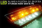 HYUNDAI NEW SANTA FE: Zrcátka - kit LED blinkry a obrysovka